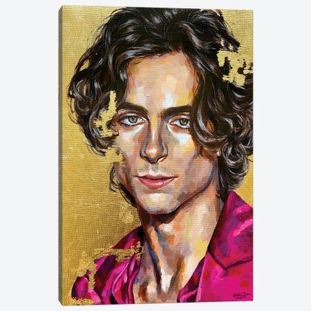 Timothée Chalamet Canvas Print #JLU6} by Jackie Liu Canvas Artwork