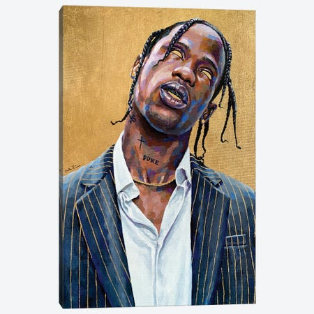 Travis Scott Canvas Print #JLU7} by Jackie Liu Canvas Wall Art