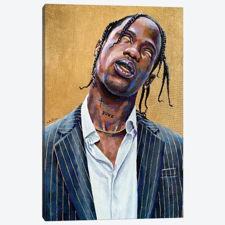 Travis Scott Canvas Print #JLU7} by Jackie Liu Canvas Wall Art