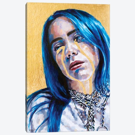 Billie Eilish Canvas Print #JLU9} by Jackie Liu Art Print