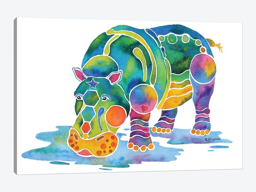 Hippopotamus by Jo Lynch 1-piece Canvas Artwork