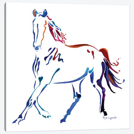 Horse Many Colors III Canvas Print #JLY102} by Jo Lynch Canvas Artwork