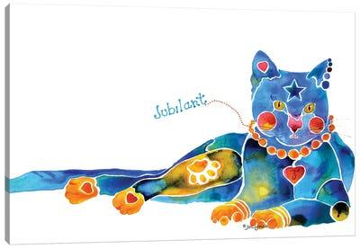 Jubilant Cat Canvas Art Print