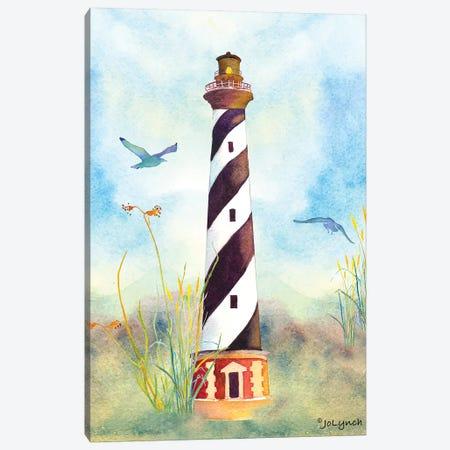 Lighthouse Cape Hatteras II Canvas Print #JLY107} by Jo Lynch Canvas Art Print