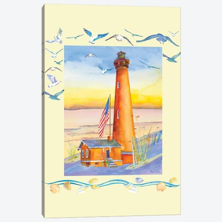 Lighthouse Currituck I Canvas Print #JLY108} by Jo Lynch Canvas Wall Art