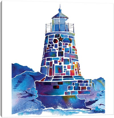 CastleHill Newport Lighthouse Canvas Art Print