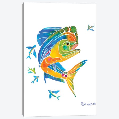 Mahi Sport Fish Canvas Print #JLY111} by Jo Lynch Canvas Print