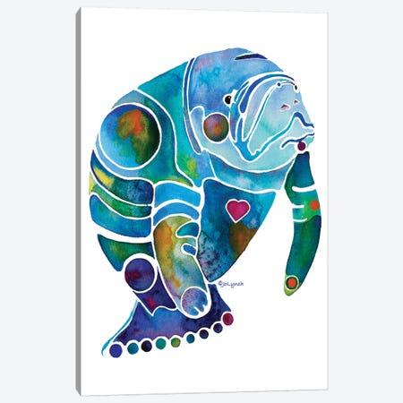 Manatee I Canvas Print #JLY112} by Jo Lynch Canvas Art Print