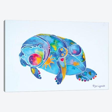 Manatee Sunny Blue Springs Canvas Print #JLY113} by Jo Lynch Canvas Print