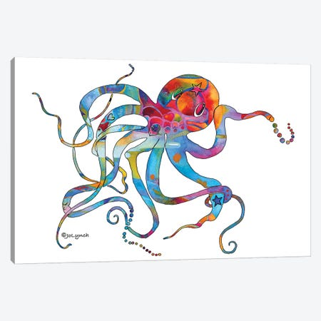 Octopus Multi II Canvas Print #JLY115} by Jo Lynch Canvas Art