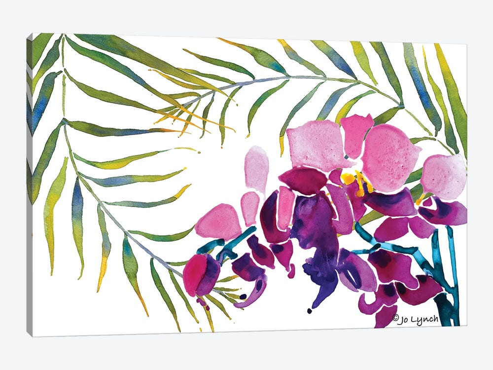 Orchid Leaves by Jo Lynch 1-piece Canvas Wall Art
