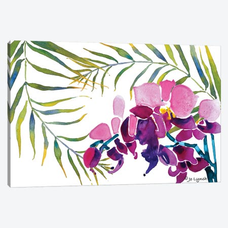 Orchid Leaves Canvas Print #JLY117} by Jo Lynch Canvas Wall Art