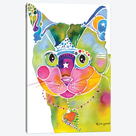 Cat Whimsical Canvas Print #JLY11} by Jo Lynch Canvas Artwork