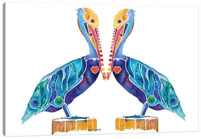 Pelican Seashore Canvas Art Print
