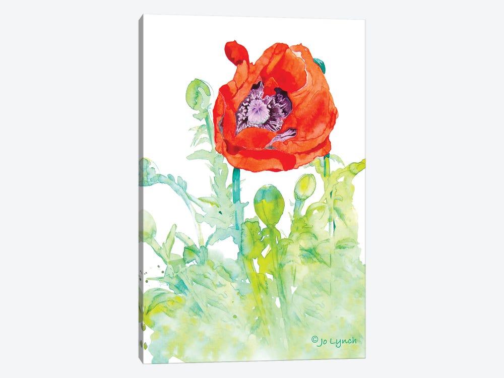 Poppy Art Flower by Jo Lynch 1-piece Canvas Print