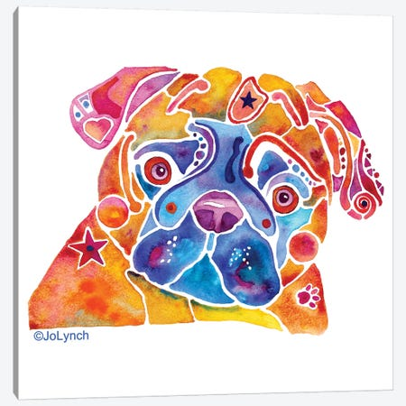 Pug Dog Whimzicals Canvas Print #JLY124} by Jo Lynch Canvas Print