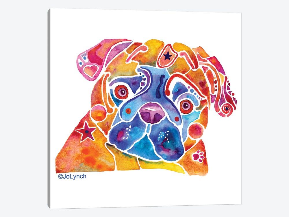 Pug Dog Whimzicals by Jo Lynch 1-piece Canvas Artwork
