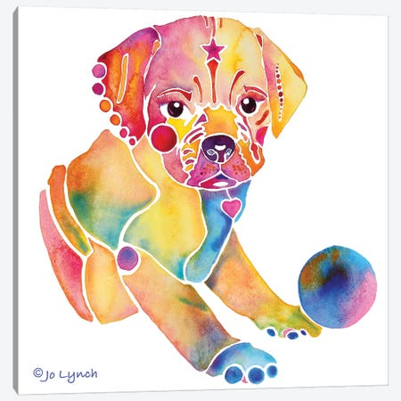 Puggle Dog Puppy 3-Piece Canvas #JLY125} by Jo Lynch Canvas Art Print