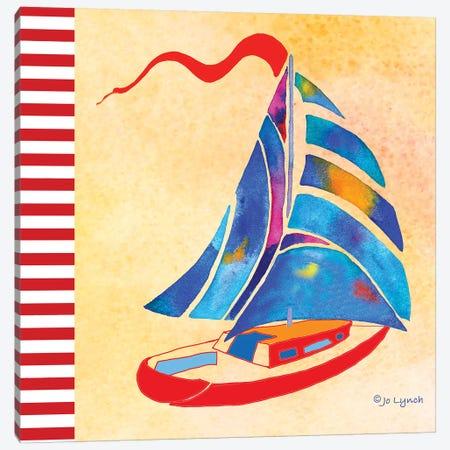 SailBoat Summer Canvas Print #JLY128} by Jo Lynch Canvas Wall Art