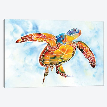 Sea Turtle I - Gentle Giant Canvas Print #JLY129} by Jo Lynch Canvas Artwork