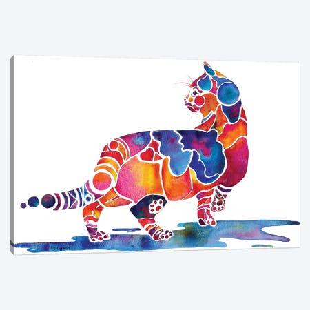 Cinnamon Cat Canvas Print #JLY12} by Jo Lynch Canvas Artwork