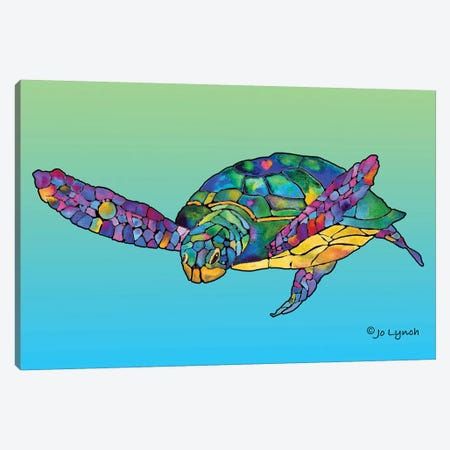 Sea Turtle Celebration Canvas Print #JLY132} by Jo Lynch Canvas Print