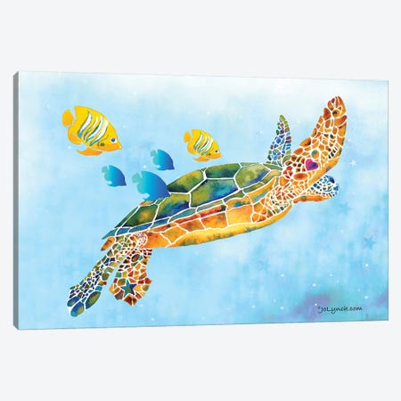 Sea Turtle Fish Canvas Print #JLY134} by Jo Lynch Canvas Artwork