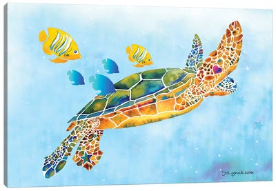 Sea Turtle Fish Canvas Art Print