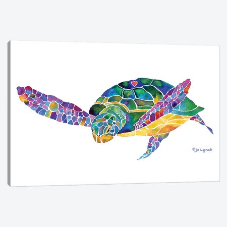 Sea Turtle Ocean 6 Canvas Print #JLY137} by Jo Lynch Canvas Art