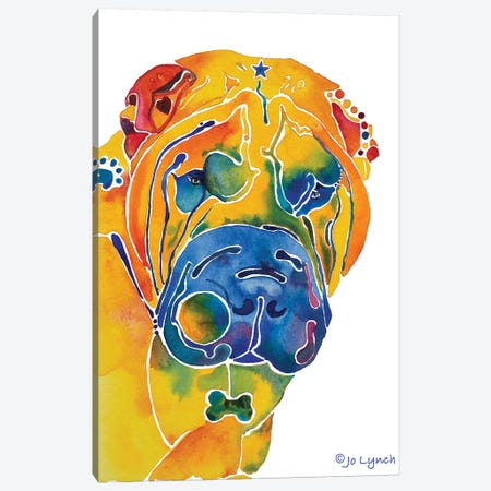 SharPei Dog Breed Canvas Print #JLY141} by Jo Lynch Canvas Artwork