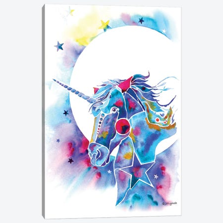 Unicorn Canvas Print #JLY151} by Jo Lynch Art Print
