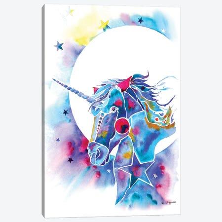 Unicorn Canvas Print #JLY151} by Jo Lynch Art Print
