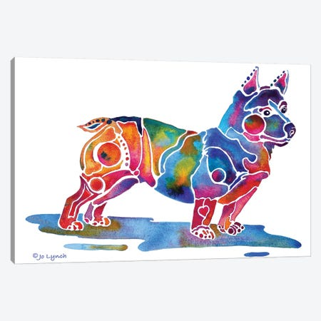 Welsh Corgi Dog Breed Canvas Print #JLY153} by Jo Lynch Canvas Print