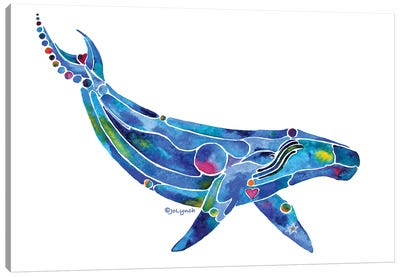 Whale Humpback Ocean Canvas Art Print