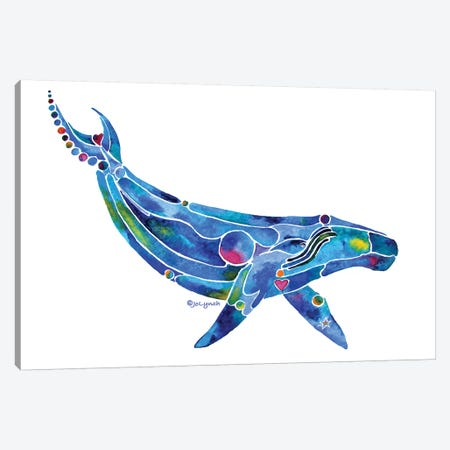 Whale Humpback Ocean Canvas Print #JLY154} by Jo Lynch Canvas Art
