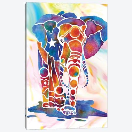 Elephant II 3-Piece Canvas #JLY16} by Jo Lynch Canvas Art Print