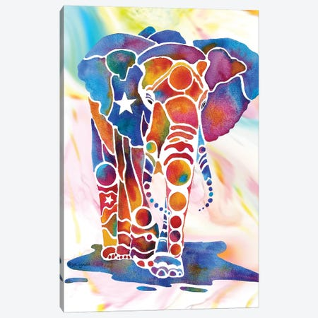 Elephant II Canvas Print #JLY16} by Jo Lynch Canvas Art Print