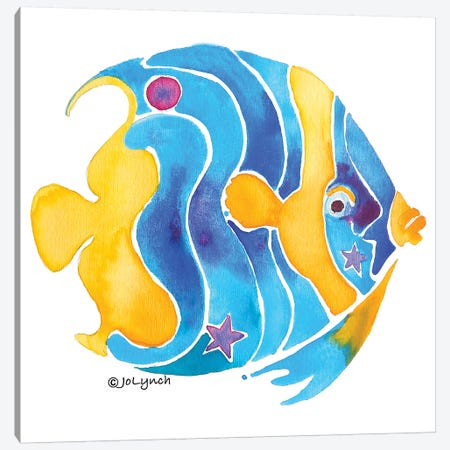 Fish Blue Yellow Angel I Canvas Print #JLY19} by Jo Lynch Canvas Wall Art
