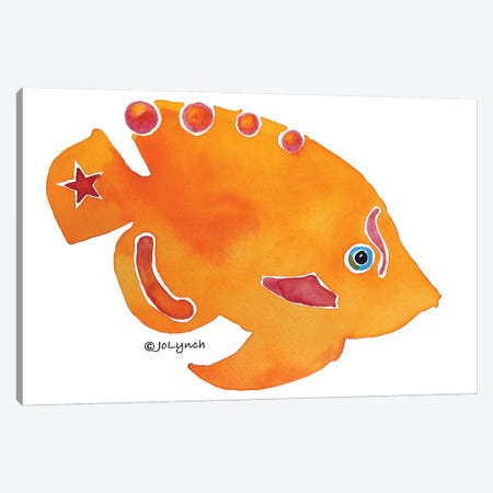 Fish Orange Canvas Print #JLY22} by Jo Lynch Canvas Print