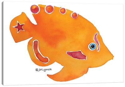 Fish Orange Canvas Art Print