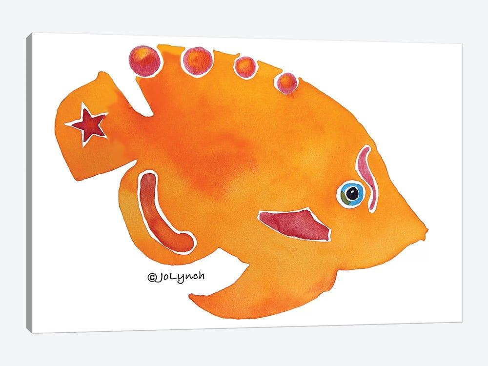 Fish Orange by Jo Lynch 1-piece Canvas Print