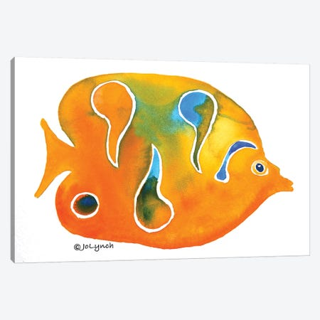 Fish Small Orange Canvas Print #JLY23} by Jo Lynch Canvas Art Print