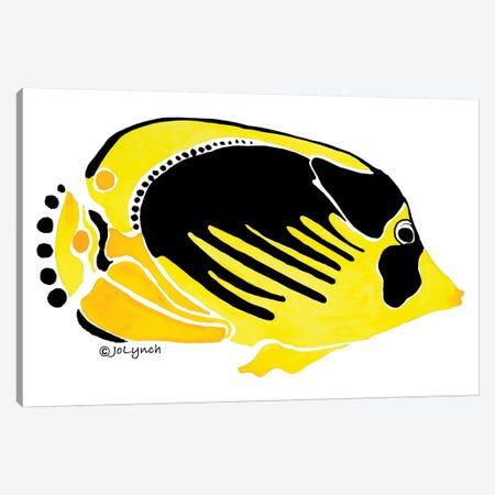 Fish Yellow Black Canvas Print #JLY24} by Jo Lynch Canvas Art