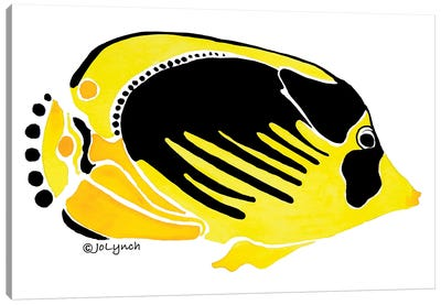 Fish Yellow Black Canvas Art Print