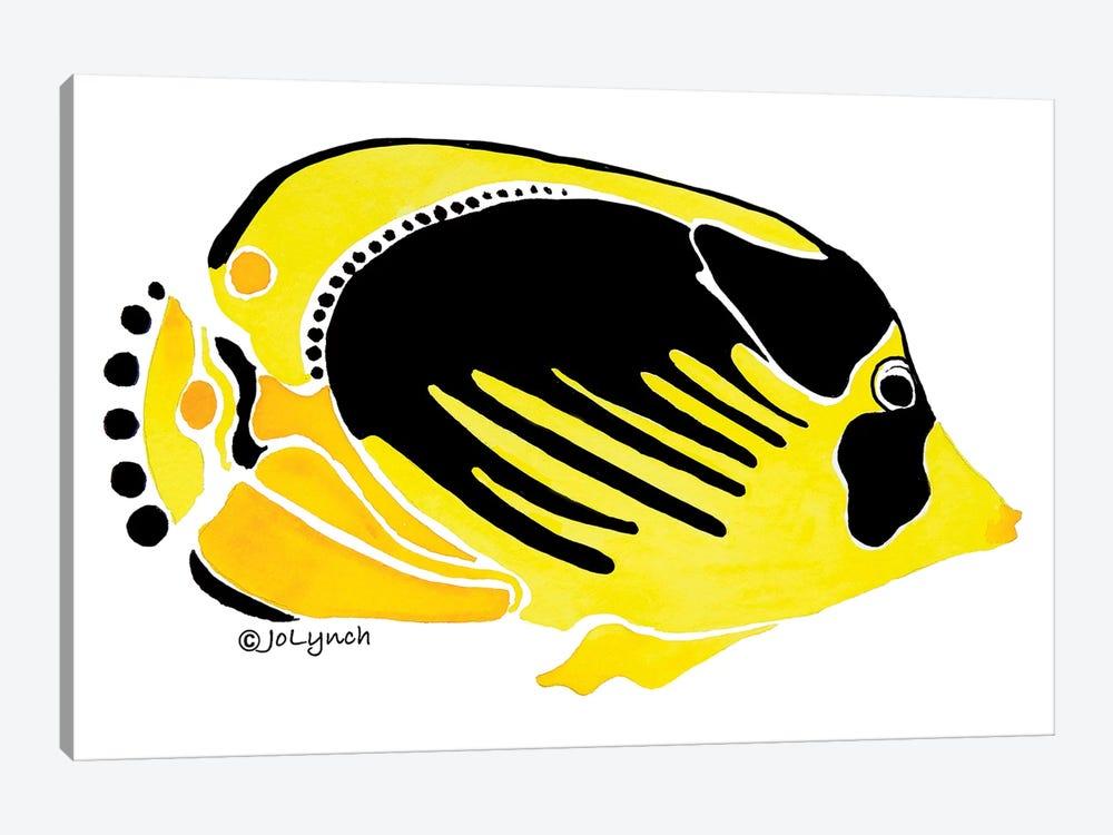 Fish Yellow Black by Jo Lynch 1-piece Art Print