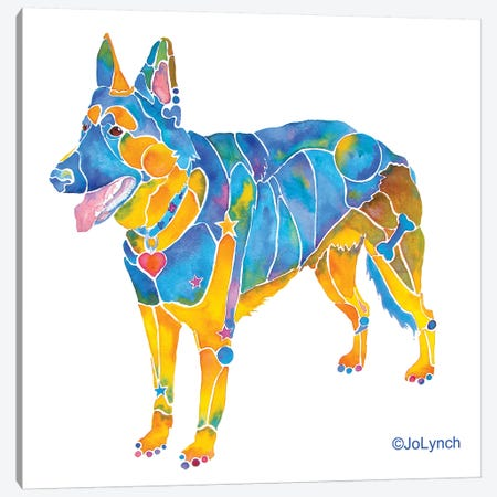 German Shepherd II Canvas Print #JLY30} by Jo Lynch Canvas Wall Art