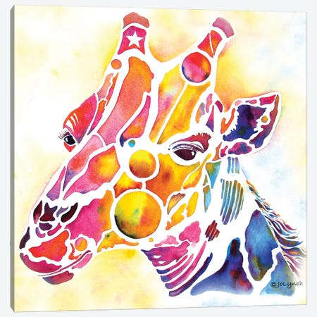 Giraffe Wildlife Canvas Print #JLY31} by Jo Lynch Canvas Art