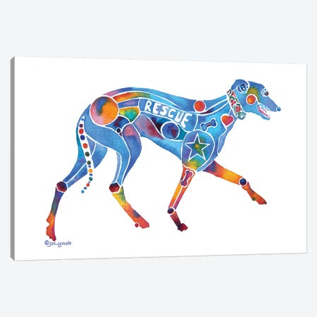 Greyhound Rescue Canvas Print #JLY32} by Jo Lynch Canvas Art