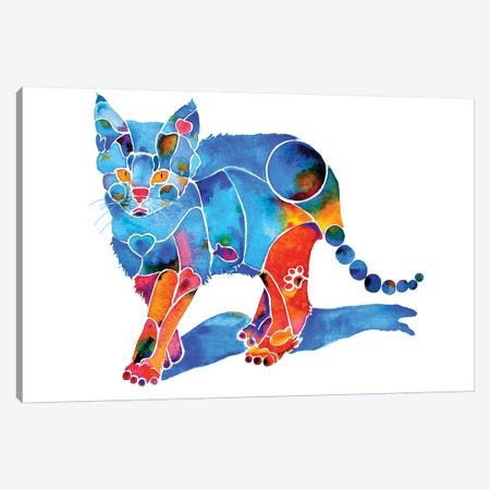 Katie Kitty Canvas Print #JLY36} by Jo Lynch Art Print
