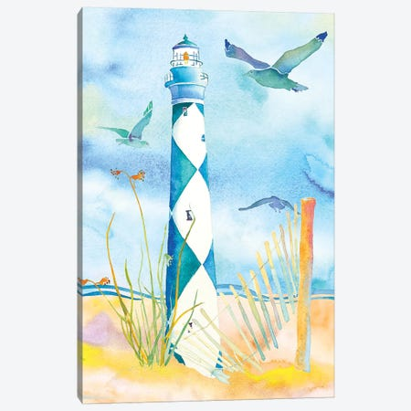 Lighthouse Carolinas II Canvas Print #JLY37} by Jo Lynch Canvas Art Print